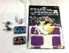 1984 G1 Transformers Cassette Laserbeak Frenzy Complete Cardback Uncut FREESHIP