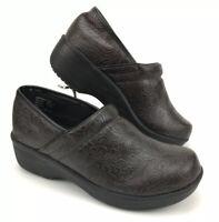 Safe T Step Comfort  Brown/Black Paisley Clogs Size 6  Never Worn!