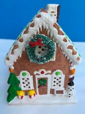 Yuletide Snow Hamlet Gingerbread House 1989 Ceramic Christmas Decoration #544