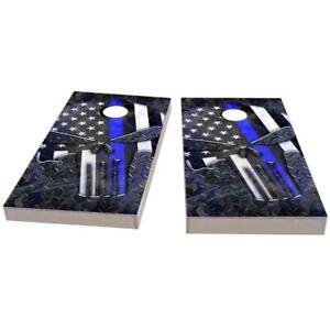 Skull USA Blue Line Cornhole Boards - The Perfect Christmas Gift