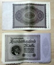 Einhunderttausend Mark Banknote vom 1.Februar 1922