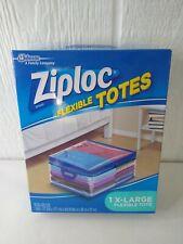 Ziploc Flexible Storage Tote Heavy Duty Clear Plastic Stackable XL 10 Gallon