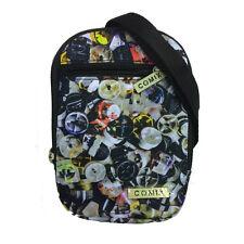 Small shoulder bag COMIX double pocket with zip fantasy multicolour in cordura