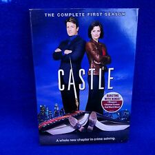 Castle The Complete 1st Season (DVD 2009 3-Disc Set) Nathan Fillion, Stana Katic