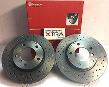 Perforados Brembo discos de freno, Xtra Line para AUDI SEAT SKODA VW, eje trasero Wow