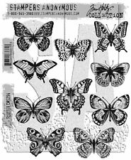 Tim Holtz Cling Rubber Stamps 2017 Flutter CMS294 Stampers Anonymous
