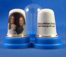 Birchcroft China Thimble -- William , Catherine , George & Lupo  --  Free Box