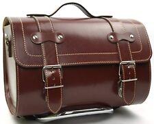 Medium Leather Top Case Roll Bag Vespa Primavera PX LXV GTS GTV Vintage Brown