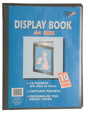 A4 10 Pocket Presentation Display Book Folder with personalised front cover