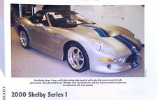 2000 Shelby Series 1 Olds Aurora V8 Info/Specs/photo production prices 11x8