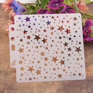 Reusable stars Stencil Airbrush Art DIY Home Decor Scrapbooking Album Craft A^lk