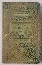 Springfield Ohio OH Clark County The First National Bank Register Savings Book