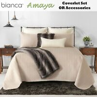 Amaya Mink Embroidered Coverlet with Pillowcase(s) OR Accessories by Bianca