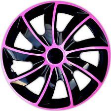 4 Radkappen PINK 14 Zoll Radblenden Satz 14 Zoll  schwarz pink  Q14P Neu