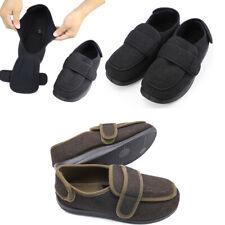 Men's Extra Wide Width Adjustable Slippers Diabetic & Edema Footwear Cozy Shoes