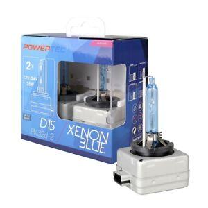 2 LAMPADE ALLO XENON D1S,SERIE SPECIALE Powertec Xenon Blue D1S DUO-6500K