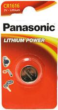 2 x Panasonic 1616 DL1616 CR1616 ECR1616 3v Batteries Coin Cell