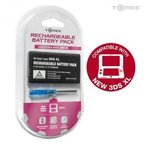 New Rechargeable Battery for Nintendo 3DS XL & LL Systems + Screwdriver