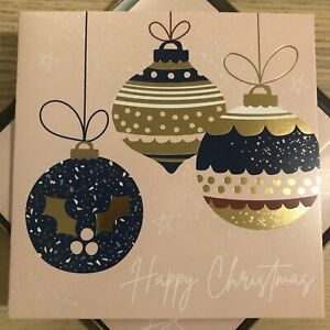 Bauble Happy Christmas Christmas Card Pack of 10