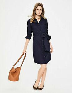BODEN Damen Blusenhemdkleid  Dress-Modern Shirt Dress - Navy 12L 38