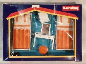 Lundby Of Sweden Scandinavian Design Miniature - Double Bed Room NIB