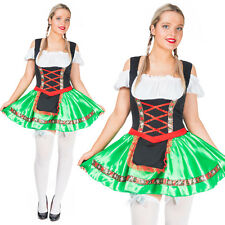 Womens Oktoberfest Wench Costume German Bavarian Beer Girl Maid Sexy Fancy Dress
