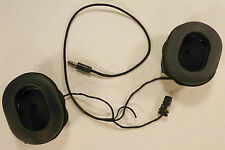 HGU 55 Flight Helmet Microphone Earcups with communications cable Assembly