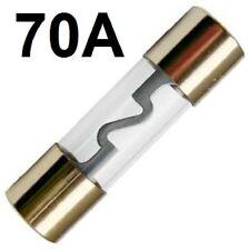 1 Stück vergoldete 70A 70 A AGU Sicherung Glas Glassicherung