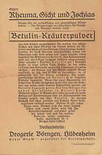 HILDESHEIM, Prospekt 1920, Drogerie Börngen Betulin-Kräuter-Pulver