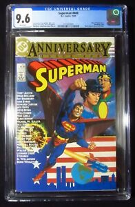 Superman #400 1984 CGC 9.6...Anniversary issue...Frank Miller pin-up on BC