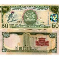 TRINIDAD AND TOBAGO 50 DOLLARS COMMEMORATIVE 2012 P-53 UNC