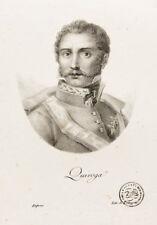 C1830 quiroga antonio general España litografía-retrato cheyere