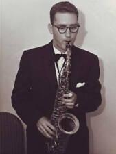 OLD JAZZ MUSIC PHOTO Lee Konitz Backstage Saxophone