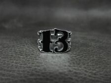 Silver 13 Thirteen Outlaw Ring for Harley Davidson Motor 1% Rider Biker TR186