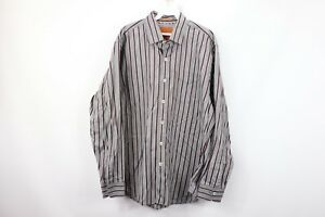 Tommy Bahama Mens Large Long Sleeve Striped Casual Button Dress Shirt Cotton