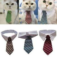 Striped Bow Neck Tie Collar Adjustable Necktie Bowknot Clothes For Pet Dog Cat