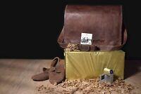 Unisex Bag Leather Vintage Shoulder Purse Large Tote Brown Satchel Handbag New