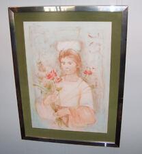 8200: Vintage Edna Hibel Lithograph Print Signed Numbered Pencil LE Fine Art