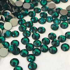 SWAROVSKI CRYSTALS 100 x SS16 DARK EMERALD GREEN Diamantes rhinestones GLUE ON