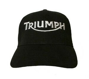 Triumph Motorcycle Logo #2 Embroidered Baseball Hat OSFA or Flex Fit