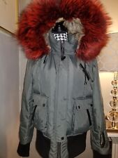 NICOLE BENISTI Real Red Fur Trim Hood Green Color Coat for sale Size : XL (8-10)