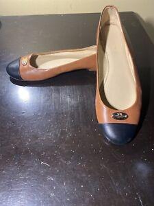 Coach Ashley Leather Flats Women Size 8B