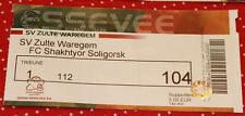 Ticket for collectors EL Zulte Waregem Belgium Shakhtyor Soligorsk Belarus