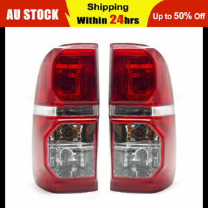 Pair of Tail Lights for Toyota Hilux SR SR5 05-15 Lamps Taillights w/ Golbes