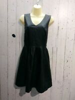 Nanette Lepore , Dress with pocket ,Black Vegan Leather Mini ,Size Medium/Large