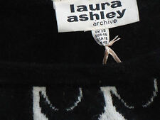 LAURA ASHLEY SmartB&W80%Lambswool3/4Slvd Sz20 NWT