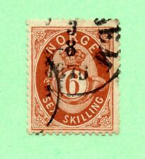 Norway - Sc# 20 used / 1876 CDS / 6 Sk -   Lot 0620386