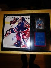 MIKE RICHTER AUTO PHOTO AND CARD WITH C.O.A  ON PLAQUE