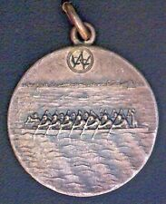 """RARE - 1922 WCC Rowing Medallion - Sterling Silver 925 - 10.10 gr - 1"""""""