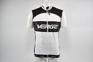 Verge Men's XS Primo Light Cycling Wind Vest, White/Black/Carbon